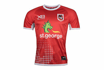 X Blades Mens St George Illawarra Dragons NRL 2018 Rugby Training T-Shirt Red