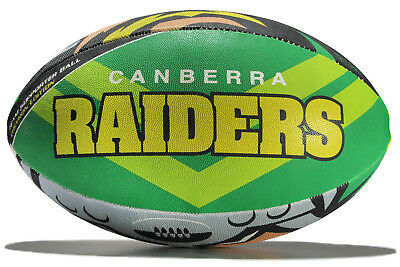 Steeden Mens Canberra Raiders NRL Supporters Rugby Ball Green Accessory Training
