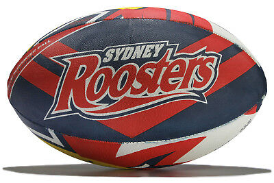 Steeden Mens Sydney Roosters NRL Supporters Rugby Ball Red Accessory Training