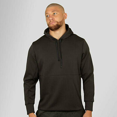 adidas Mens Workout Climalite Over the Head Hooded Sweat Hoody Hoodie Top Grey