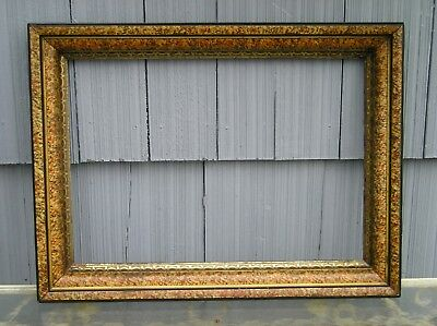 Rare Stunning Deep Antique Victorian Sponged Aged Gilt Picture Frame 14 x 20