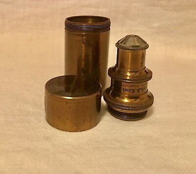 Antique BRASS Bausch & Lomb Optical Co. 1/6 0.85 N.A. microscope objective LENS