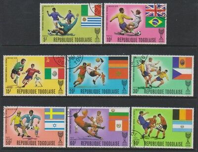 Togo - 1970, World Cup Football, Mexico set - CTO - SG 733/40