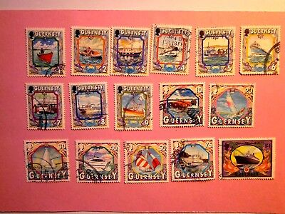 GB GUERNSEY: 1998 Maritime Heritage 15vals to £1 VFU Sg785/99