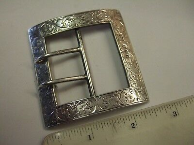 Beautifully Detailed Chester Solid Silver Victorian Buckle Nurses 61 gr