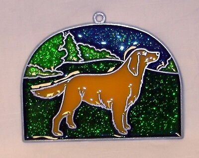 Brand New Golden Retriever Suncatcher Metal Resin (NEW Old Stock) FREE S&H