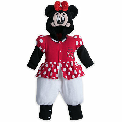 Disney Store Minnie Mouse Fleece Costume Romper Baby 9 12 18 24 Months