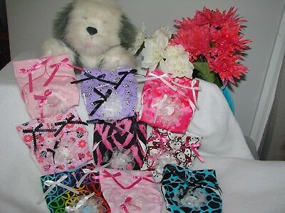 XXsmall Tiny Female dog Diapers, Lots of ribbon & lace! Many colors available!