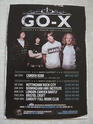 Go-X Uk Tour Flyer 2012