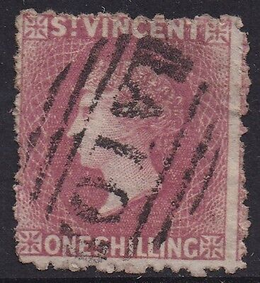 St Vincent 1872 Qv 1/- Wmk Star Sideways Perf 11 To 12.5 Used