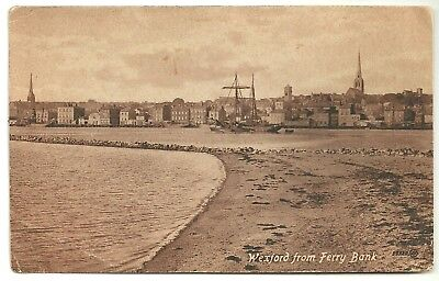 Ireland Co Wexford postcard Wexford from Ferry Bank
