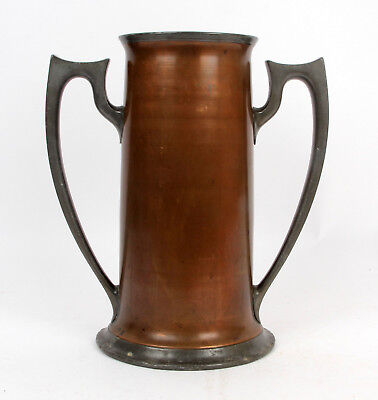 Reed and Barton Arts and Crafts Large Copper Pewter Vase Trophy