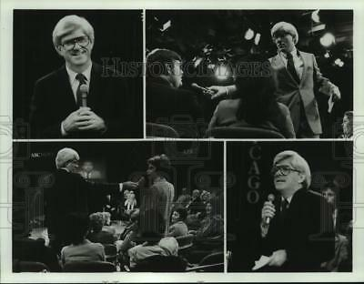 """1982 Press Photo Scenes from """"The Phil Donahue Show"""" - nop24040"""
