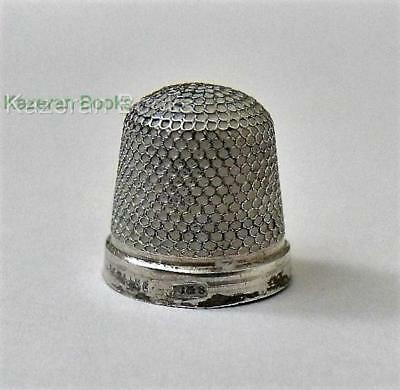 Tiny Childs Baby Vintage Solid Sterling Silver Thimble By Henry Griffith & Sons