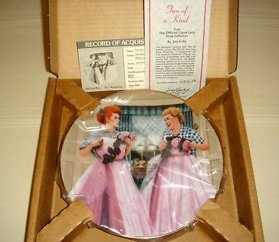 Official I LOVE LUCY & Ethel Same Formal Gowns Great Episode TWO OF A KIND Plate
