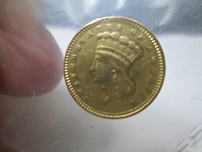 1873 1 Dollar Liberty Gold Coin In Extra Fine Condition