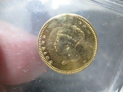 Type 3 1 Dollar Liberty Gold Coin In Extra Fine Condition