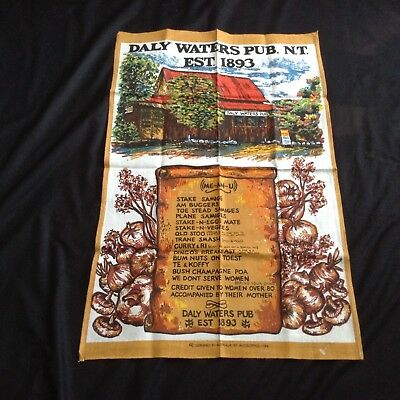NWOT DALY WATERS PUB NT AUSTRALIA Souvenir TEA TOWEL by NUCOLORVUE 28.5x18.25""