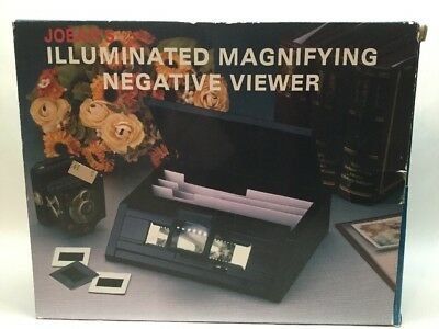 Jobar's Illuminated Magnifying Slide Negative Viewer New Unused A10