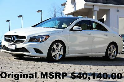 2015 Mercedes-Benz A-Class CLA250 4Matic 2015 Panorama Roof Navigation Rear View Camera Blind Spot Assist White Auto AWD