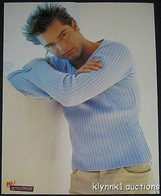 Ricky Martin Poster Centerfold and 2 Pinups lot 1835A  Joey McIntyre Hanson back