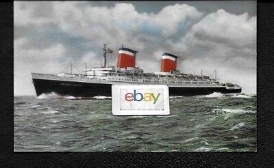 United States Lines  Ss United States Fastest Ship Lithograph Postcard
