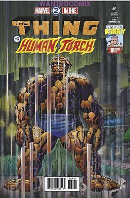 Marvel Two-In-One #1 Jack Kirby 100Th Variant Cover Thing 2017 Comic Book New