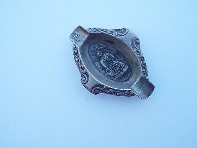 Collectible Rare Vintage/Antique Sterling Silver Ashtray Sterling 900