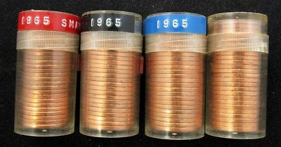 Lot of 94 Canada 1 Cent Coins -All BU- 25x 1967 & 69x 1965 - Uncirculated
