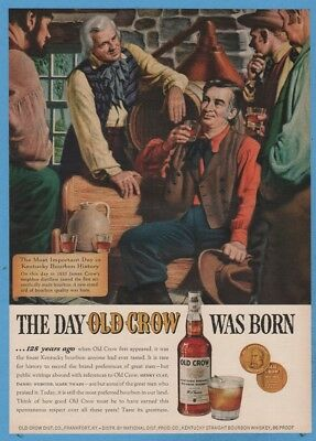 1960 Old Crow Kentucky Bourbon Frankfort KY The day Old Crow was born art ad