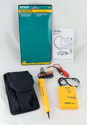 EXTECH TG30 WIRE TRACER KIT Tone Generator w/ Case and Instruction Manual