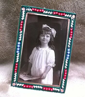 Vintage ITALIAN Micro - Mosaic PICTURE FRAME  Very Sweet