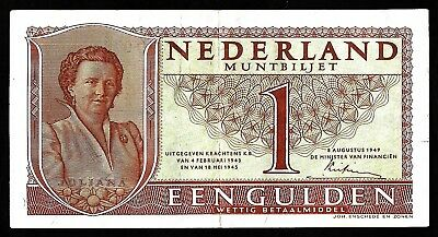 1 Gulden From Netherlands 1949   XF
