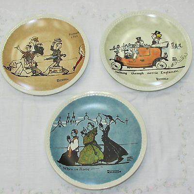 Lot Of 3 Norman Rockwell On Tour Collector Plates 1982 Coa Paris Rome London