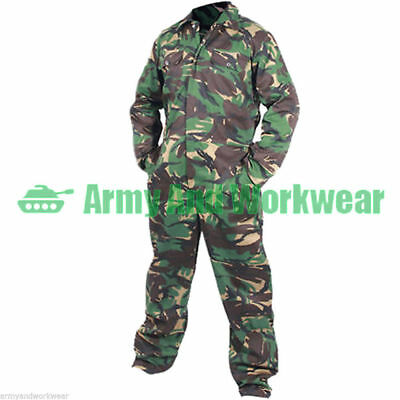 Camo Boilersuit Army Coveralls Overalls Workwear Boiler Suit Military DPM Mens