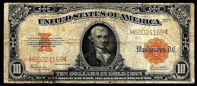 10 Dollars From USA 1922