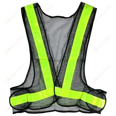 Yellow High Viz Hi Vis Visibility Vest Safety Waistcoat Jacket See Through Mesh
