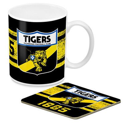 AFL Coffee Mug and Coaster Richmond Tigers New // Pre-Order!!
