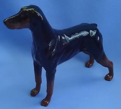 1990s  DOBERMAN PINSCHER ROYAL DOULTON ENGLAND NOT BESWICK