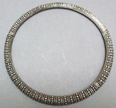 Collier Torque Solid Silver China 19e S Silver Necklace Indochina Chinese