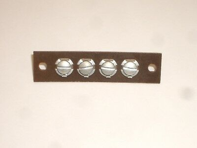 Vintage Phenolic Terminal Strip 4 Screws For Stereo Or Shortwave Radio Speaker