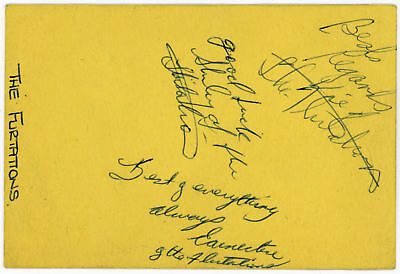The Flirtations Signed Imperial Nelson Concert Ticket 1968