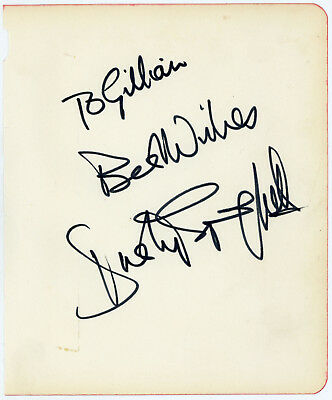 Dusty Springfield Signature Autograph 1960s