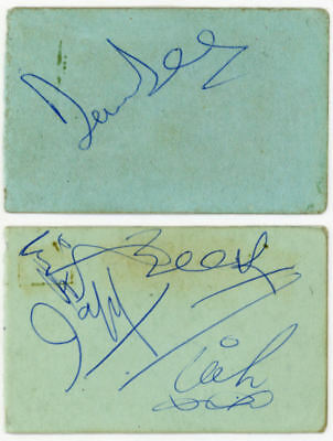 Dave Dee Dozy Beaky Mick And Tich Signatures Autographs 1960s