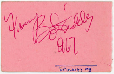 Bo Diddley Signature Autograph 1967
