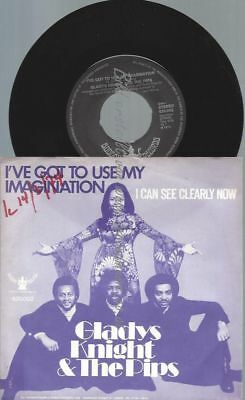"7""  Gladys Knight & The Pips ‎– I've Got To Use My Imagination"