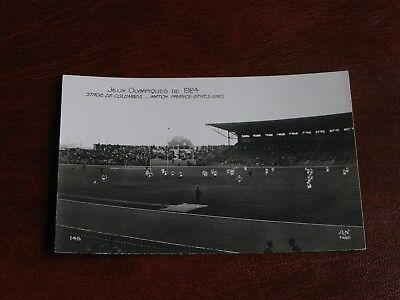 ORIGINAL PARIS OLYMPIC GAMES 1924 RUGBY POSTCARD - FRANCE v USA - FINAL.