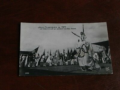Original Paris Olympic Games 1924 Postcard - Geo Andre,swearing Of The Oath.