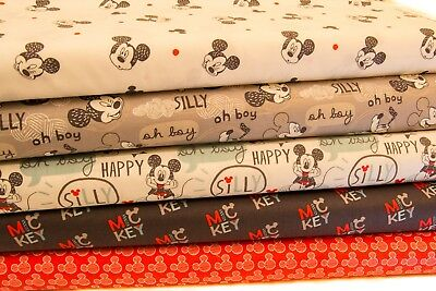 Disney Mickey Mouse Craft Cotton Print Fabric - 10 Gorgeous Designs