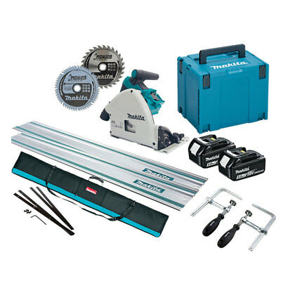 Makita DSP600TJ 36v (Twin 18v) LXT Brushless Plunge Saw 5.0Ah Kit